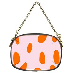Polka Dot Orange Pink Chain Purses (one Side)  by Jojostore
