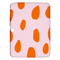 Polka Dot Orange Pink Samsung Galaxy Tab 3 (10 1 ) P5200 Hardshell Case  by Jojostore