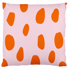 Polka Dot Orange Pink Standard Flano Cushion Case (two Sides) by Jojostore