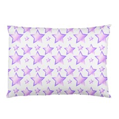 Pink And Lilac Stars Pillow Case (two Sides) by cheekywitch