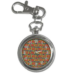 Typographic Graffiti Pattern Key Chain Watches by dflcprints