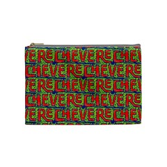 Typographic Graffiti Pattern Cosmetic Bag (medium)  by dflcprints