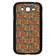 Typographic Graffiti Pattern Samsung Galaxy Grand Duos I9082 Case (black) by dflcprints