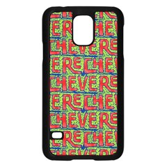 Typographic Graffiti Pattern Samsung Galaxy S5 Case (black) by dflcprints