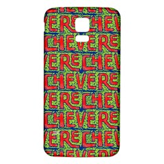 Typographic Graffiti Pattern Samsung Galaxy S5 Back Case (white) by dflcprints