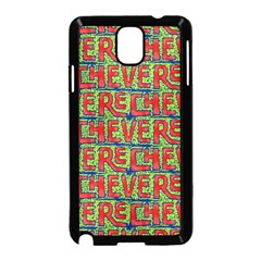 Typographic Graffiti Pattern Samsung Galaxy Note 3 Neo Hardshell Case (black) by dflcprints