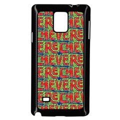 Typographic Graffiti Pattern Samsung Galaxy Note 4 Case (black) by dflcprints