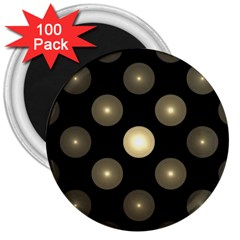 Gray Balls On Black Background 3  Magnets (100 Pack) by Nexatart