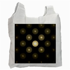 Gray Balls On Black Background Recycle Bag (one Side)