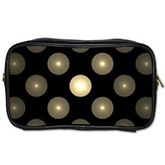 Gray Balls On Black Background Toiletries Bags 2 Side by Nexatart