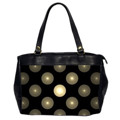 Gray Balls On Black Background Office Handbags (2 Sides)  by Nexatart