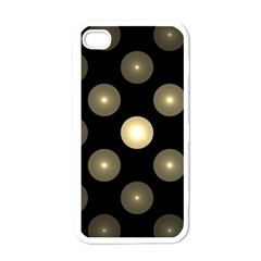 Gray Balls On Black Background Apple Iphone 4 Case (white) by Nexatart