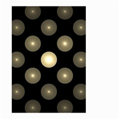 Gray Balls On Black Background Small Garden Flag (two Sides) by Nexatart