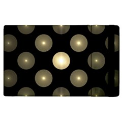 Gray Balls On Black Background Apple Ipad 3/4 Flip Case by Nexatart