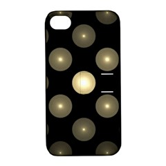 Gray Balls On Black Background Apple Iphone 4/4s Hardshell Case With Stand by Nexatart