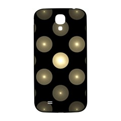 Gray Balls On Black Background Samsung Galaxy S4 I9500/i9505  Hardshell Back Case by Nexatart