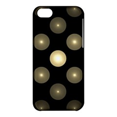 Gray Balls On Black Background Apple Iphone 5c Hardshell Case by Nexatart