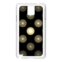 Gray Balls On Black Background Samsung Galaxy Note 3 N9005 Case (white) by Nexatart