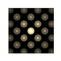 Gray Balls On Black Background Small Satin Scarf (square) by Nexatart