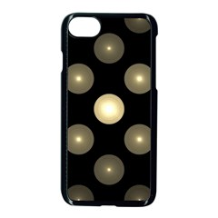 Gray Balls On Black Background Apple Iphone 7 Seamless Case (black) by Nexatart