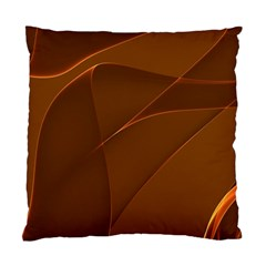 Brown Background Waves Abstract Brown Ribbon Swirling Shapes Standard Cushion Case (one Side) by Nexatart
