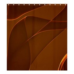 Brown Background Waves Abstract Brown Ribbon Swirling Shapes Shower Curtain 66  X 72  (large)  by Nexatart