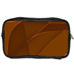 Brown Background Waves Abstract Brown Ribbon Swirling Shapes Toiletries Bags by Nexatart