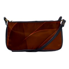 Brown Background Waves Abstract Brown Ribbon Swirling Shapes Shoulder Clutch Bags by Nexatart