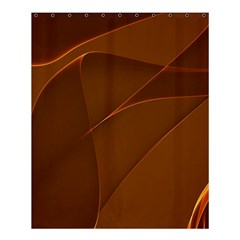 Brown Background Waves Abstract Brown Ribbon Swirling Shapes Shower Curtain 60  X 72  (medium)  by Nexatart