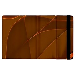 Brown Background Waves Abstract Brown Ribbon Swirling Shapes Apple Ipad 2 Flip Case