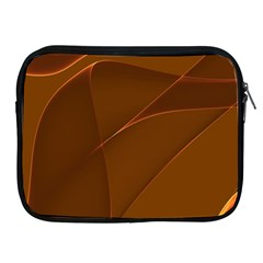 Brown Background Waves Abstract Brown Ribbon Swirling Shapes Apple Ipad 2/3/4 Zipper Cases by Nexatart