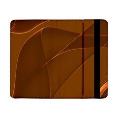 Brown Background Waves Abstract Brown Ribbon Swirling Shapes Samsung Galaxy Tab Pro 8 4  Flip Case by Nexatart