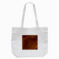 Brown Background Waves Abstract Brown Ribbon Swirling Shapes Tote Bag (white) by Nexatart