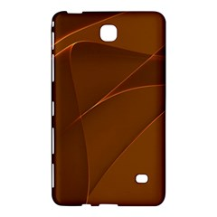 Brown Background Waves Abstract Brown Ribbon Swirling Shapes Samsung Galaxy Tab 4 (8 ) Hardshell Case  by Nexatart