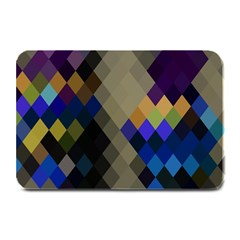 Background Of Blue Gold Brown Tan Purple Diamonds Plate Mats