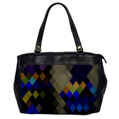 Background Of Blue Gold Brown Tan Purple Diamonds Office Handbags by Nexatart