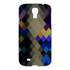 Background Of Blue Gold Brown Tan Purple Diamonds Samsung Galaxy S4 I9500/i9505 Hardshell Case by Nexatart