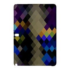 Background Of Blue Gold Brown Tan Purple Diamonds Samsung Galaxy Tab Pro 12 2 Hardshell Case by Nexatart