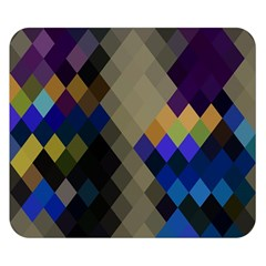 Background Of Blue Gold Brown Tan Purple Diamonds Double Sided Flano Blanket (small)  by Nexatart