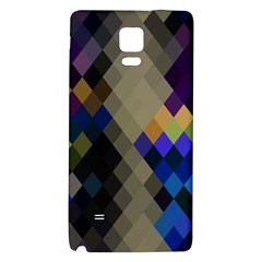 Background Of Blue Gold Brown Tan Purple Diamonds Galaxy Note 4 Back Case by Nexatart