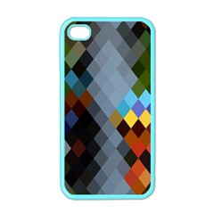 Diamond Abstract Background Background Of Diamonds In Colors Of Orange Yellow Green Blue And More Apple Iphone 4 Case (color) by Nexatart