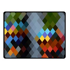 Diamond Abstract Background Background Of Diamonds In Colors Of Orange Yellow Green Blue And More Double Sided Fleece Blanket (small)  by Nexatart