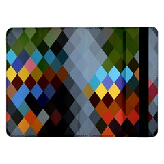 Diamond Abstract Background Background Of Diamonds In Colors Of Orange Yellow Green Blue And More Samsung Galaxy Tab Pro 12 2  Flip Case