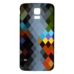 Diamond Abstract Background Background Of Diamonds In Colors Of Orange Yellow Green Blue And More Samsung Galaxy S5 Back Case (white)
