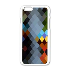 Diamond Abstract Background Background Of Diamonds In Colors Of Orange Yellow Green Blue And More Apple Iphone 6/6s White Enamel Case