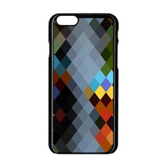 Diamond Abstract Background Background Of Diamonds In Colors Of Orange Yellow Green Blue And More Apple Iphone 6/6s Black Enamel Case
