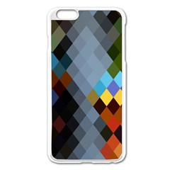 Diamond Abstract Background Background Of Diamonds In Colors Of Orange Yellow Green Blue And More Apple Iphone 6 Plus/6s Plus Enamel White Case