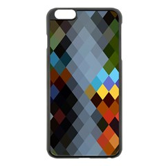 Diamond Abstract Background Background Of Diamonds In Colors Of Orange Yellow Green Blue And More Apple Iphone 6 Plus/6s Plus Black Enamel Case