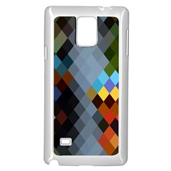 Diamond Abstract Background Background Of Diamonds In Colors Of Orange Yellow Green Blue And More Samsung Galaxy Note 4 Case (white)