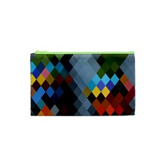 Diamond Abstract Background Background Of Diamonds In Colors Of Orange Yellow Green Blue And More Cosmetic Bag (xs) by Nexatart